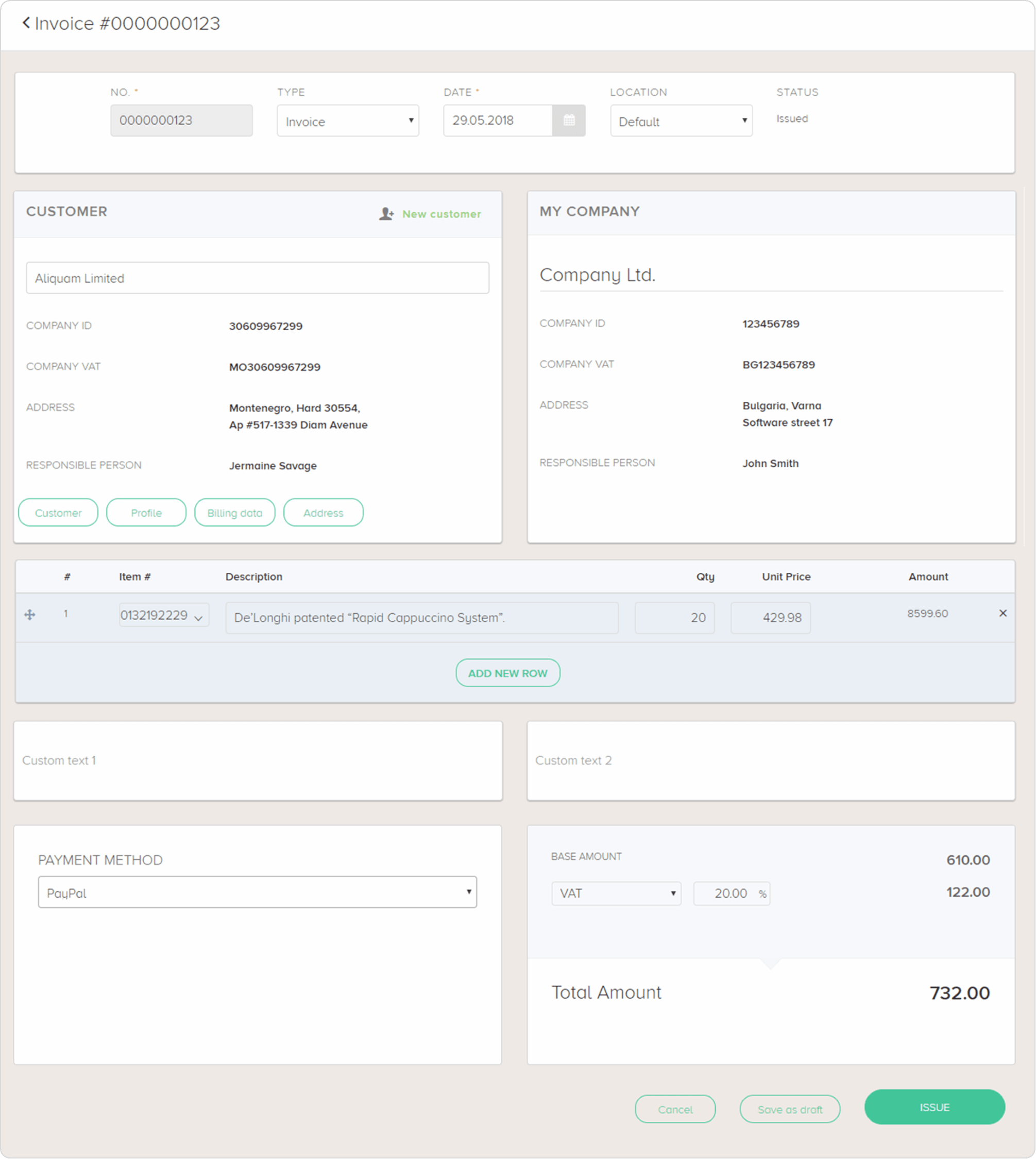 Invoicing And Billing Software Composity Modules - Invoice module
