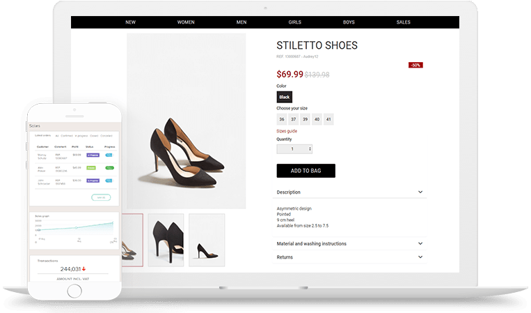 Composity eCommerce features